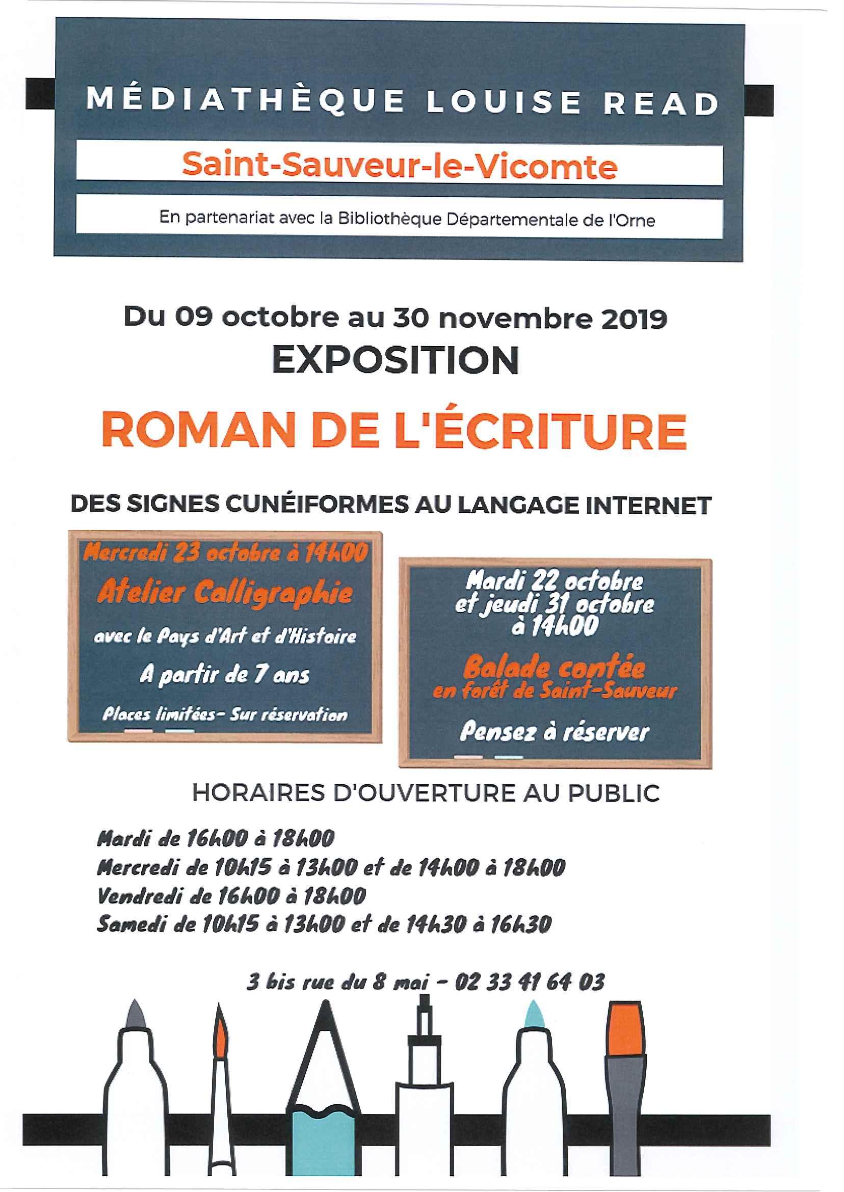 Exposition ROMAN DE L'ECRITURE